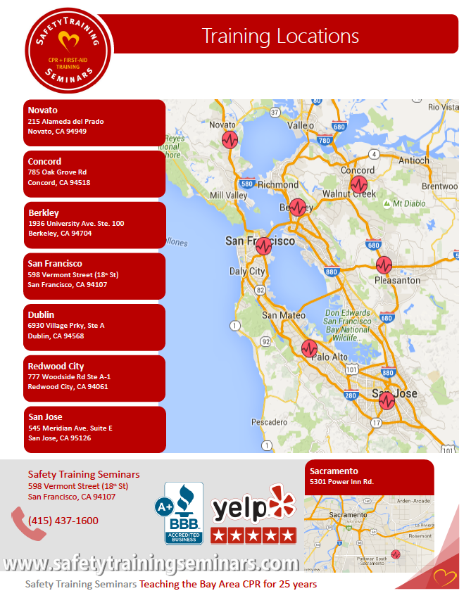 Bay Area Cpr Directory Of American Heart Association Classes