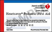EMSA Pediatric First Aid Class