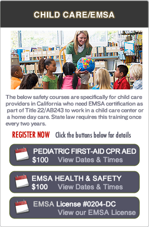 EMSA Childcare Pediatric First-aid